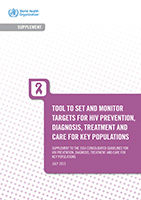 Tool to Set and Monitor Targets for HIV Prevention, Diagnosis, Treatment, and Care for Key Populations (2015 supplement)