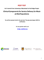 E-Tutorial on Clinical Components for Service Delivery for MARPs (Post-Test)