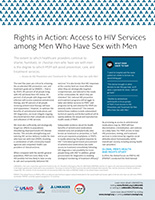 Rights in Action: Access to HIV Services among Men Who Have Sex with Men