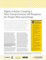 Rights in Action:Creating a More Comprehensive HIV Response for People Who Inject Drugs